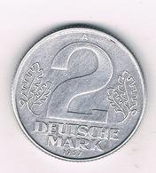 2 MARK 1957 A  DDR /  DUITSLAND /1131/ - [ 6] 1949-1990: DDR