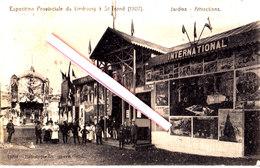 Exposition Provinciale Du Limbourg à SAINT-TROND (1907) Jardins - Attractions - Superbe Carte Circulée. - Sint-Truiden