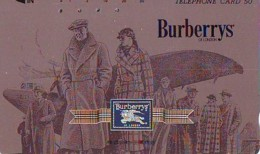 Télécarte Japon * ANGLETERRE * ENGLAND * MODE ANGLAISE * BURBERRYS Of LONDON   (376) GREAT BRITAIN * Phonecard Japan - Mode