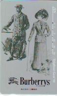 Télécarte Japon * ANGLETERRE * ENGLAND * MODE ANGLAISE * BURBERRYS Of LONDON   (377) GREAT BRITAIN * Phonecard Japan - Fashion