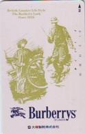 Télécarte Japon * ANGLETERRE * ENGLAND * MODE ANGLAISE * BURBERRYS Of LONDON   (378) GREAT BRITAIN * Phonecard Japan - Fashion