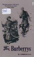 Télécarte Japon * ANGLETERRE * ENGLAND * MODE ANGLAISE * BURBERRYS Of LONDON   (380) GREAT BRITAIN * Phonecard Japan - Mode