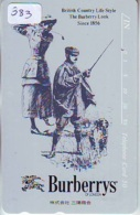 Télécarte Japon * ANGLETERRE * ENGLAND * MODE ANGLAISE * BURBERRYS Of LONDON   (383) GREAT BRITAIN * Phonecard Japan - Fashion