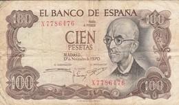 ESPAGNE - 100 Pesetas - 17/11/1970 - El Banco De Espana - 100 Pesetas