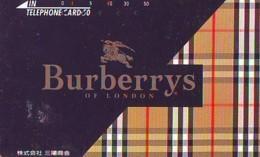Télécarte Japon * ANGLETERRE * ENGLAND * MODE ANGLAISE * BURBERRYS Of LONDON (390) GREAT BRITAIN * Phonecard Japan - Mode