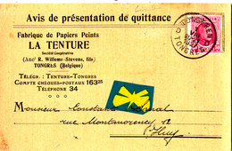 TONGRES - Fabrique De Papiers Peints - La Tenture (Ancien R.Willems-Stevens,fils)- Présentation De Quittance - Tongeren