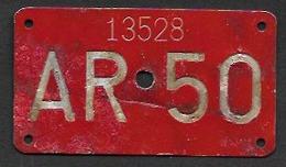 Velonummer Appenzell Ausserrhoden AR 50 - Number Plates