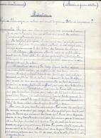 DEVOIR D'ECOLE 1919 - REDACTION :UN VIEILLARD DONT LES 2 FILS SONT A LA GUERRE -élève De 16 Ans - Diplômes & Bulletins Scolaires