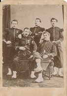 CDV Groupe De Militaire En Studio (Ca 1870-1880) - Guerre, Militaire