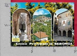 CARTOLINA VG ITALIA - Antico Principato Di SEBORGA - Vedutine Multivue - 10 X 15 - ANN. 198? - Imperia