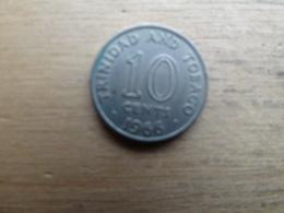 Trinite & Tobago  10  Cents  1966  Km 3 - Trinidad & Tobago