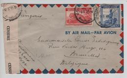 PR6297/ TP 244-261 S/L.Avion C.Kindu Port Empain 1945 Censure Congo Belge V.BXL Belgique Via Léo. - Congo Belge