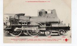 Les Locomotives (P.L.M.)  Machine N° C 52 1er Type Coupe-vent Pour Trains Légers Express Construite En 1893-1897. - Eisenbahnen