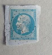 LOSANGE PETITS CHIFFRES 897 DE CODOGNAN OU VERGÈZE - 1853-1860 Napoleone III