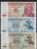 B 126 - TRANSNISTRIE Série De 3 Billets état Neuf 1er Choix - Moldavie