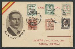 Spanje Tatjeta Postal Málaga Liberada 1937 - Emissions Nationalistes