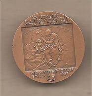 Reggio Emilia - XXII Convegno Città Del Tricolore Medalgia In Bronzo - Pittore Lelio Orsi - 1987 - Italia