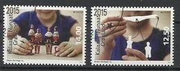 GROENLAND N° 676 Et 677 Oblitérés Année 2015 - Europa Jouet Ancien - Groenlandia