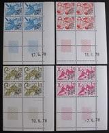 DF50500/227C - PREO - N°154 à 157 - 4 BLOCS CdF Datés NEUFS** - Cote : 24,00 € - 1970-1979