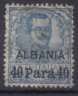 Italy Offices 1902 Albania Sassone#3 Mi#5 Used - 11. Oficina De Extranjeros