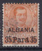 Italy Offices 1902 Albania Sassone#2 Mi#4 Used - 11. Oficina De Extranjeros