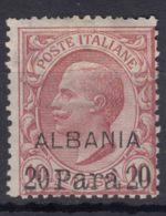 Italy Offices 1907 Albania Sassone#8 Mi#3 Mint Hinged - 11. Oficina De Extranjeros