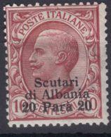 Italy Offices 1909 Scutari Albania Sassone#2 Mi#16 Mint Hinged - 11. Oficina De Extranjeros