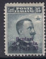 Italy Offices 1909 Scutari Albania Sassone#3 Mi#17 Mint Hinged - 11. Oficina De Extranjeros