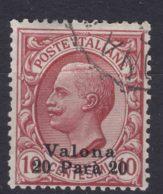 Italy Offices 1909 Valona Albania Sassone#2 Mi#24 Used - 11. Oficina De Extranjeros