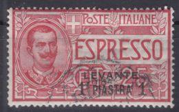 Italy Offices 1908 Levante Levant Espressi Sassone#1 Mi#18 Used - Oficinas Europeas Y Asiáticas
