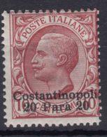Italy Offices 1909 Levante Levant Costantinopoli Sassone#21 Mi#21 III Mint Hinged - Oficinas Europeas Y Asiáticas