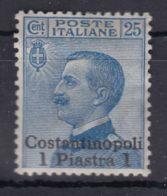 Italy Offices 1909 Levante Levant Costantinopoli Sassone#23 Mi#23 III Mint Hinged - Oficinas Europeas Y Asiáticas