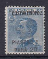 Italy Offices 1923 Levante Levant Costantinopoli Sassone#77 Mi#84 Mint Hinged - Oficinas Europeas Y Asiáticas