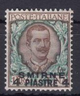 Italy Offices 1909 Levante Levant Smirne Sassone#6 Mi#25 V Mint Hinged - Oficinas Europeas Y Asiáticas