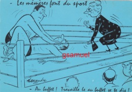 Illustrateur Alexandre - Les Mémères Font Du Sport - Au Buffet ! Travaille Le Au Buffet Je Te Dis !  (voir Scan). - Alexandre