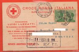 Cartolina Postale Croce Rossa Croix Rouge Red Cross Cpa 1926 X Nervesa Treviso - Guerre 1939-45