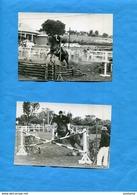 REUNION-2 Photos Originales-concours Hippique-à Situer-gros Plan De Saut -années 60 - La Réunion