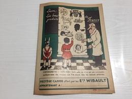 PROTÈGE CAHIER Ancien PRODUIT DE FRANCE ETS WIBAULT DEVILLERS - Protège-cahiers