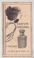 Parfum Gregoria Rigaud Paris1910 - Old Paper
