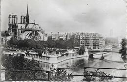 CPSM. PARIS. L'ÎLE DE LA CITE VUE D'AMONT. - La Seine Et Ses Bords