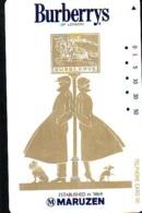 Télécarte Japon * ANGLETERRE * ENGLAND * MODE ANGLAISE * BURBERRYS Of LONDON (409) GREAT BRITAIN * Phonecard Japan - Mode