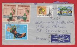 Lettre Du VIET-NAM (KONTUM) à FRANCE (SENONES) - Viêt-Nam