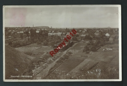 Souvret. ( Courcelles) Photo Carte. Panorama Du Village. Circulé En 1936. Scan Recto/verso. - Courcelles