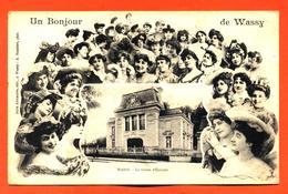 """CPA 52 Wassy """" La Caisse D'épargne - Un Bonjour De Wassy """" Multitude De Femmes - Wassy"""