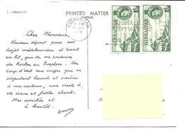 Europe-GIBRALTAR-Découverte De Gibraltar A ISTANBUL -PUB.Collection AMORA-TIMBRE-Obliteration-1960 - Gibraltar