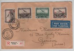 PR6298/ TPA 2-3-6(2)-190(2)-31(2) S/L.recommandée Avion C.BXL 1936 V.Suisse Genève C.d'arrivée - Postmark Collection