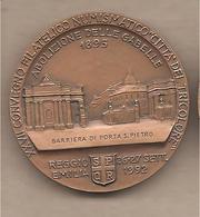 Reggio Emilia - XXVII Convegno Città Del Tricolore Medaglia In Bronzo - Abolizione Delle Gabelle - 1992 - Italia