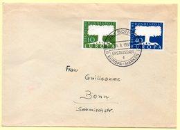 Europa 1957, FdC. Allemagne. Oblitération 16/09/1957 Sur Lettre - 1962