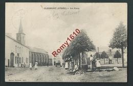 Clermont (Strée) La Place Et La Fontaine.  Très Belle Carte Animée.   Edition Dantinne. 1910. 2 Scans. - Walcourt