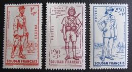 DF50500/231 - 1941 - COLONIES FR. - SOUDAN - LA DEFENSE DE L'EMPIRE - N°122 à 124 NEUFS** - Soudan (1894-1902)